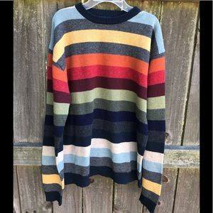 1990's Vintage Structure Wool Sweater 🌈